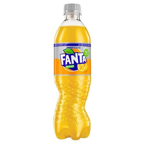 Fanta Orange Zero 500ml PMP £1.09 or 2 for £2 (UK)